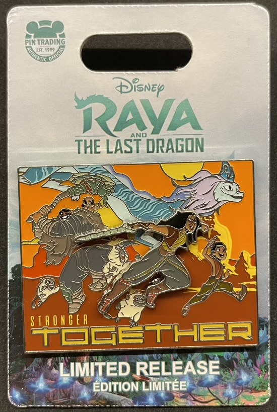 Stronger Together Raya and the Last Dragon Pin