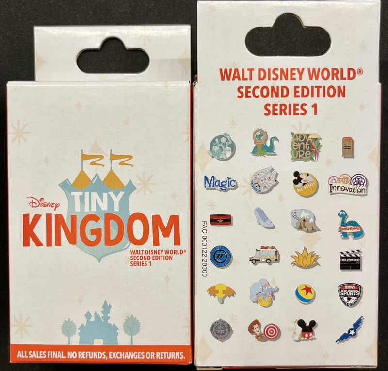 Tiny Kingdom Walt Disney World Second Edition Series 1 Pin Collection