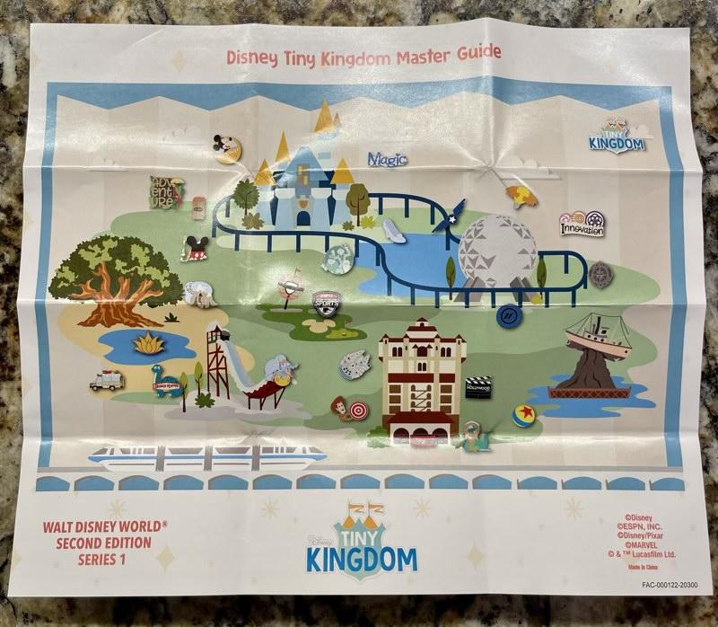 Tiny Kingdom Walt Disney World Second Edition Series 1 Pin Map