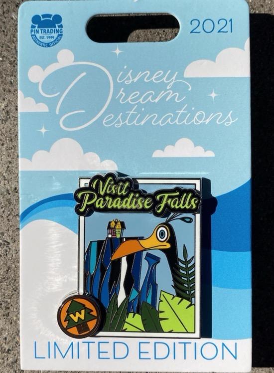 UP Paradise Falls Disney Dream Destinations Pin