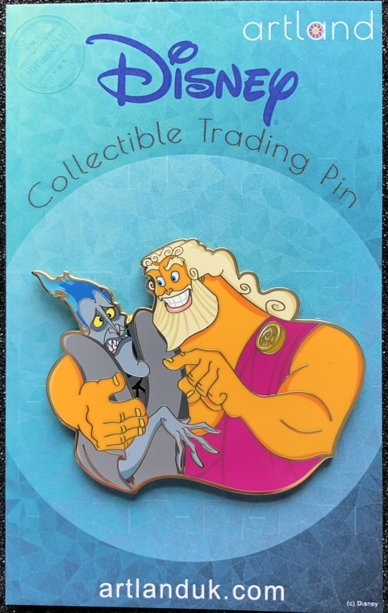 Zeus & Hades Siblings LE 250 ArtLand Disney Pin
