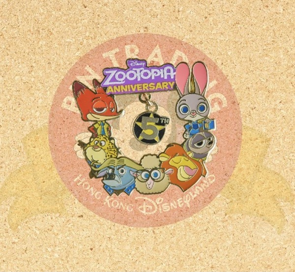 Zootopia 5th Anniversary Hong Kong Disneyland Pin