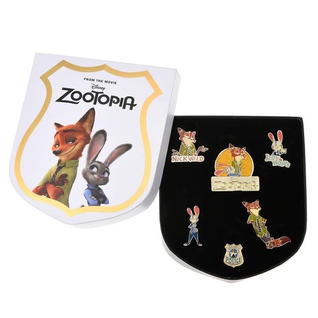 Zootopia Judy Hopps & Nick Wilde Pin Set at Disney Store Japan