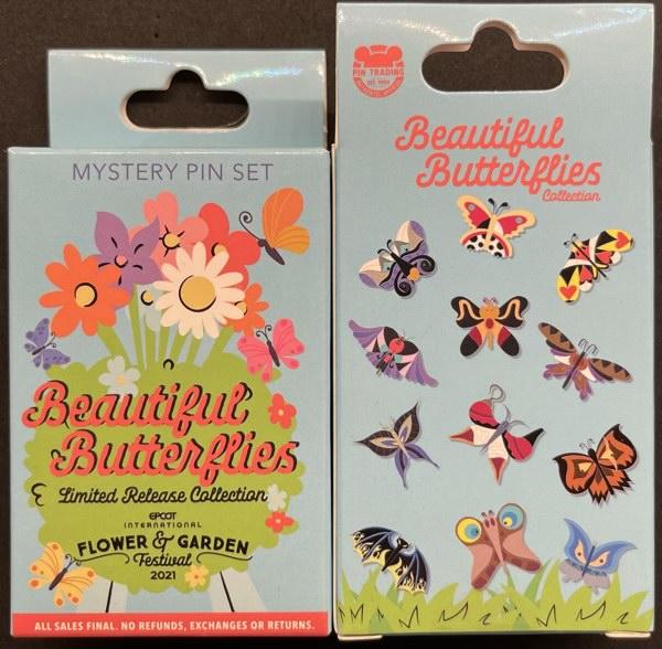 Beautiful Butterflies Mystery Pins - Epcot Flower & Garden Festival 2021
