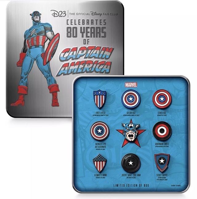 Captain America 80th Anniversary D23 Exclusve Pin Set