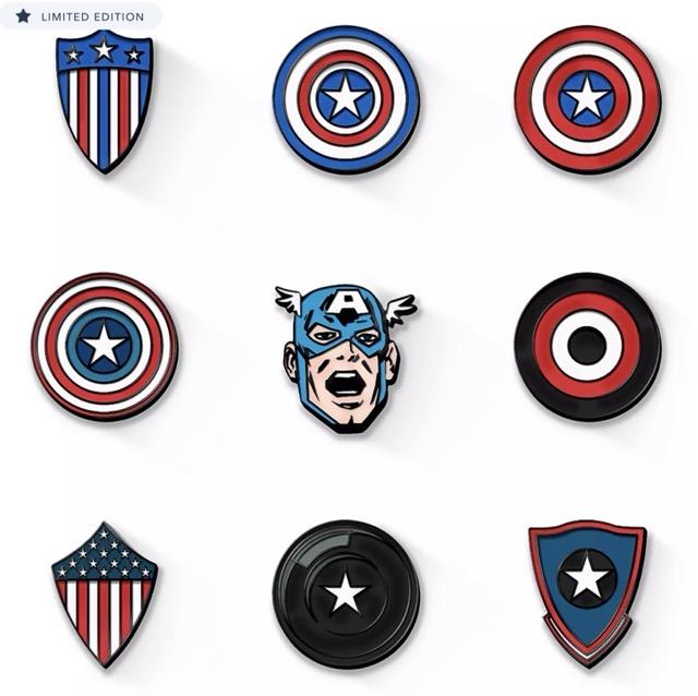 Captain America 80th Anniversary D23 Pin Set