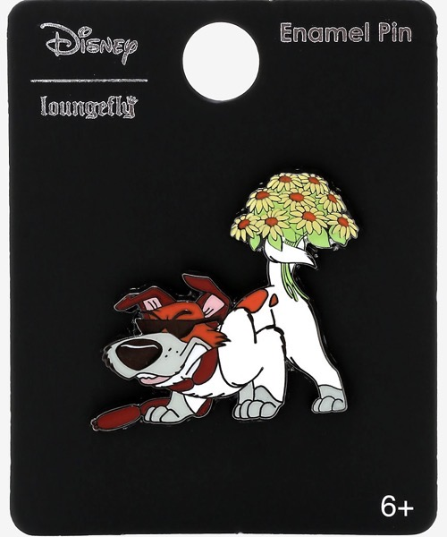 Dodger Flowers Oliver & Company BoxLunch Disney Pin