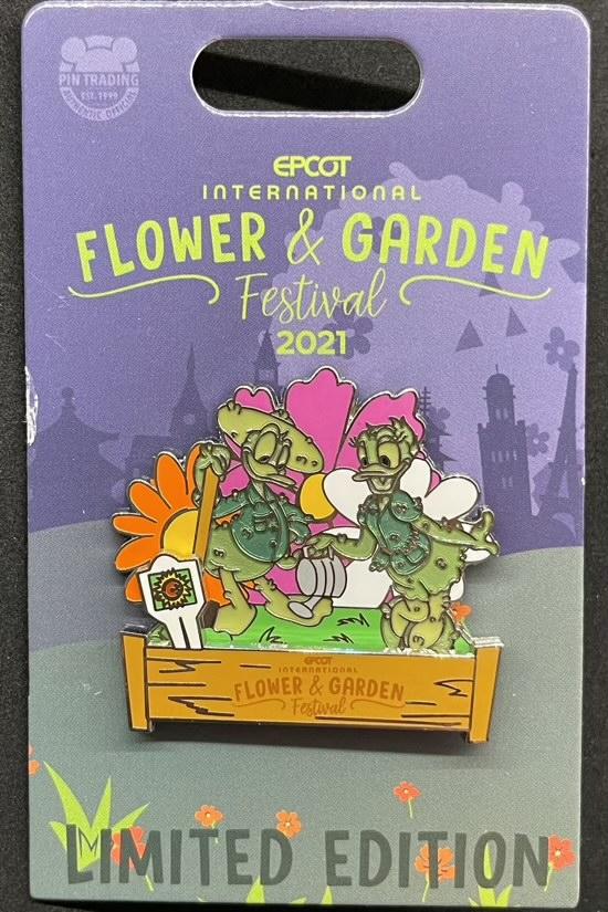 Donald & Daisy Pin - Epcot Flower & Garden Festival 2021