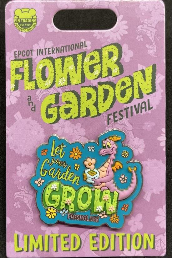 Figment Grow Pin - Epcot Flower & Garden Festival 2021