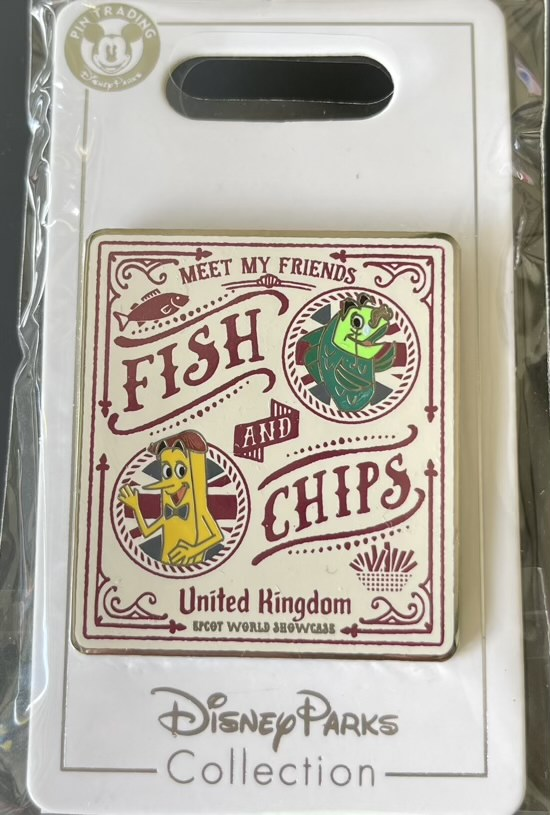 Fish & Chips Epcot World Showcase Disney Pin