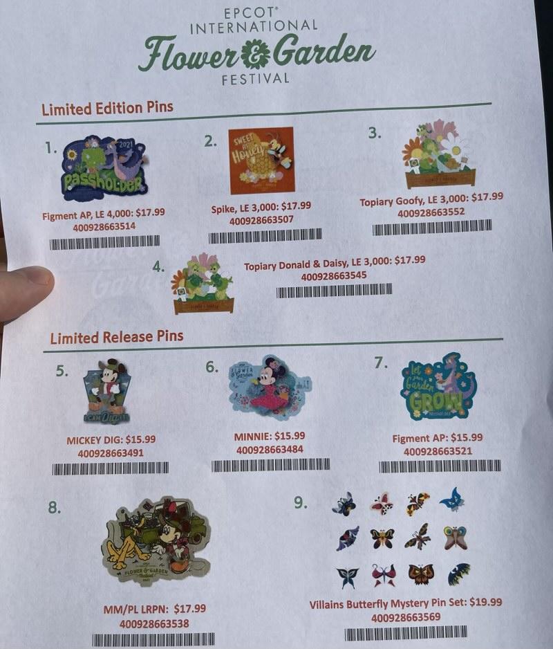 Flower & Garden 2021 Pin Previews