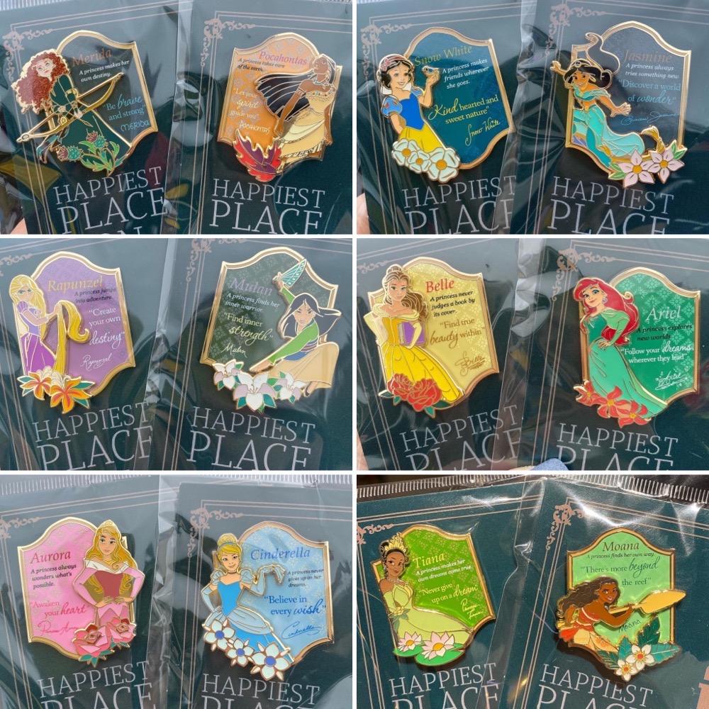 Happiest Place on Earth Princess Pin Series at Hong Kong Disneyland