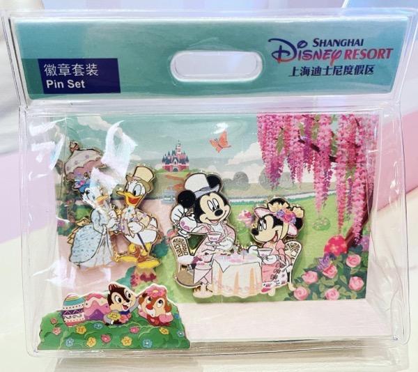 Hello Spring 2021 Shanghai Disney Pin Set