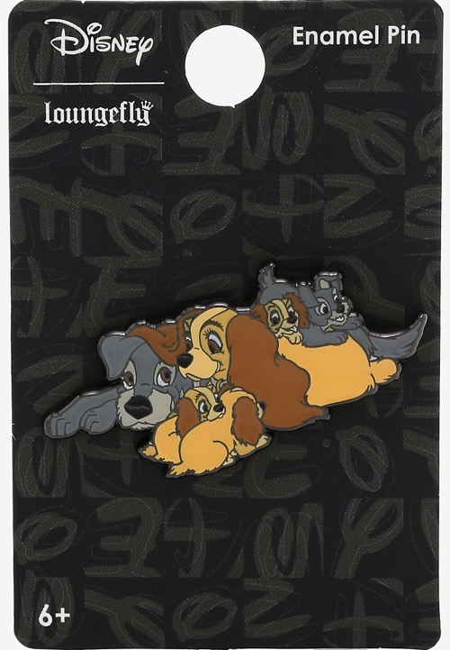 Lady and the Tramp Family Loungefly Pin at Hot Topic