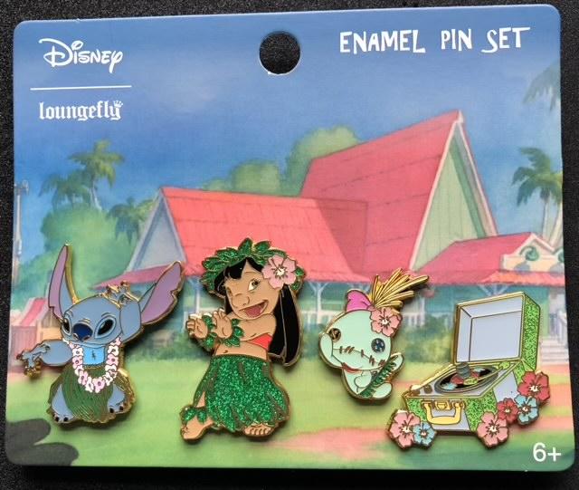 Lilo & Stitch Hula Disney Pin Set by Loungefly