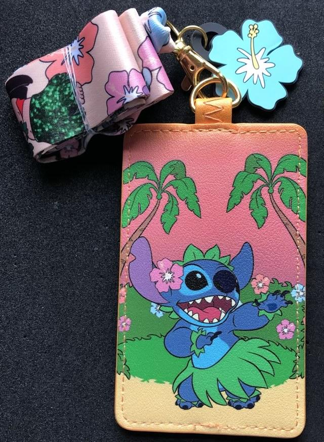 Lilo & Stitch Hula Loungefly Cardholder Lanyard