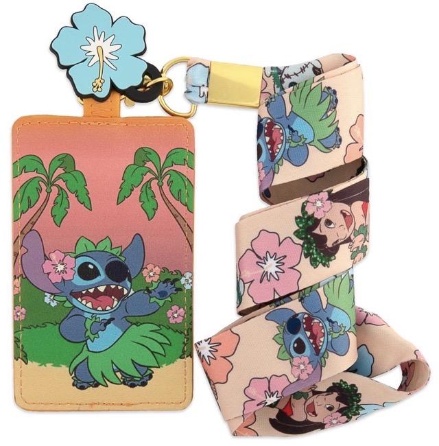 Loungefly Lilo & Stitch Hula Cardholder Lanyard