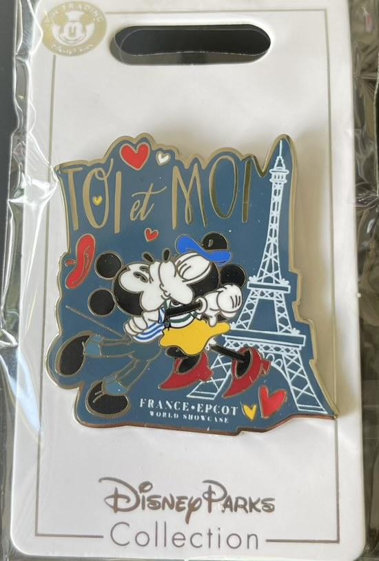 Mickey & Minnie France Epcot World Showcase Disney Pin