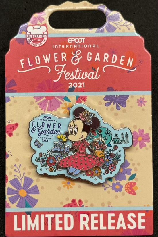 Minnie Mouse Pin - Epcot Flower & Garden Festival 2021