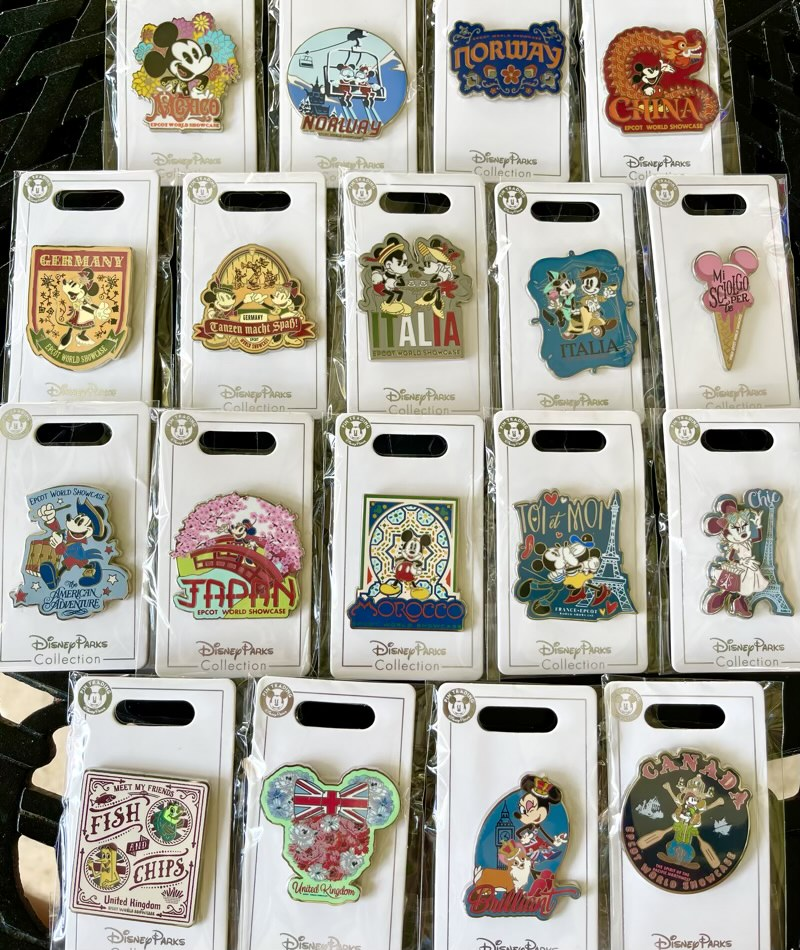 New EPCOT World Showcase Open Edition Pin Collection at WDW