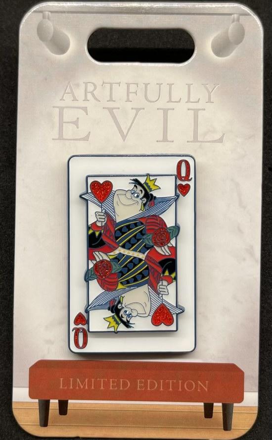 Queen of Hearts Artfully Evil Disney Pin