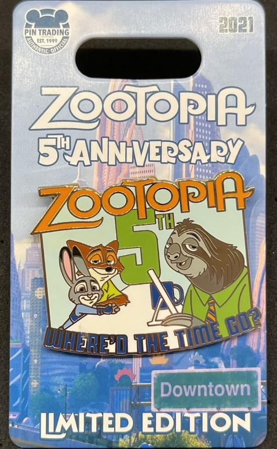 Zootopia 5th Anniversary Disney Pin