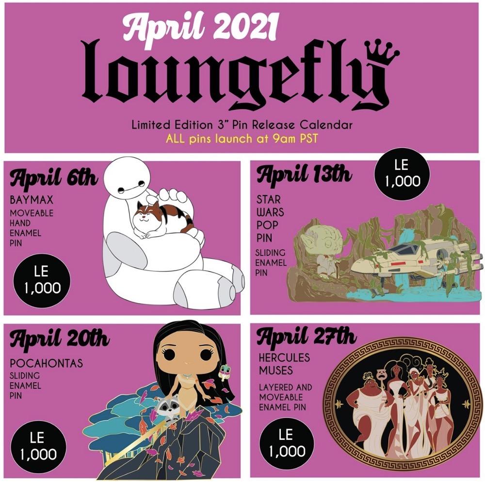 April 2021 Loungefly Disney Pin Release Calendar