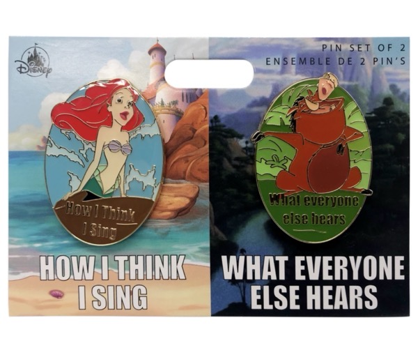 Ariel and Pumbaa Meme Pin Set