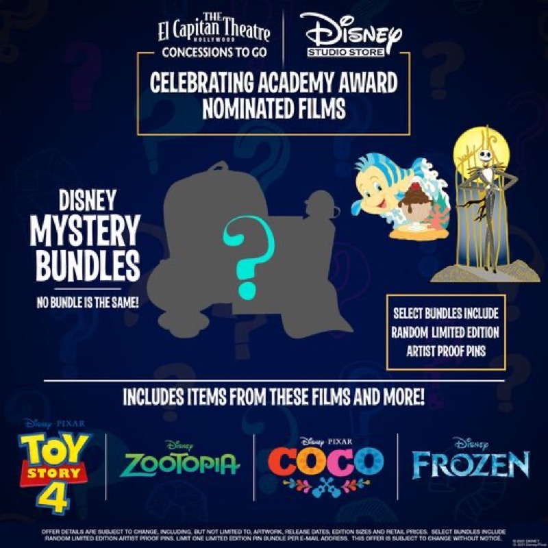 Disney Mystery Bundles with Artist Proof Pins at DSSH