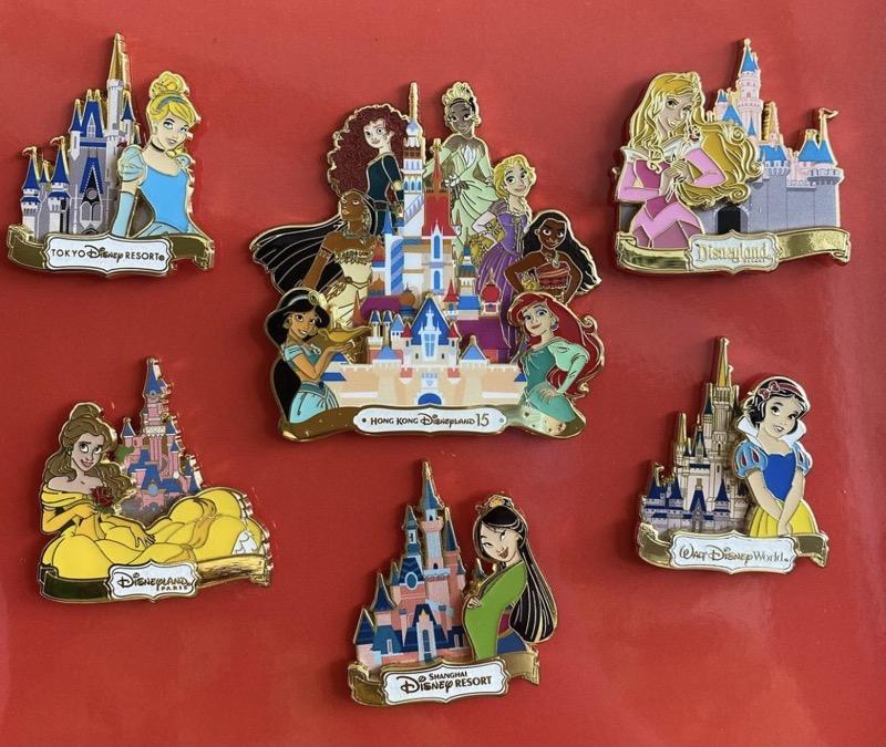 Disney Princess Designer Pin Series - Hong Kong Disneyland 2021