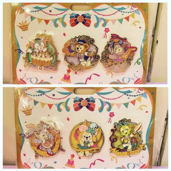 Duffy and Friends SHDR 5th Anniversary Pin Sets