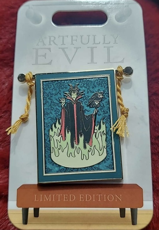 Maleficent Artfully Evil Disney Pin