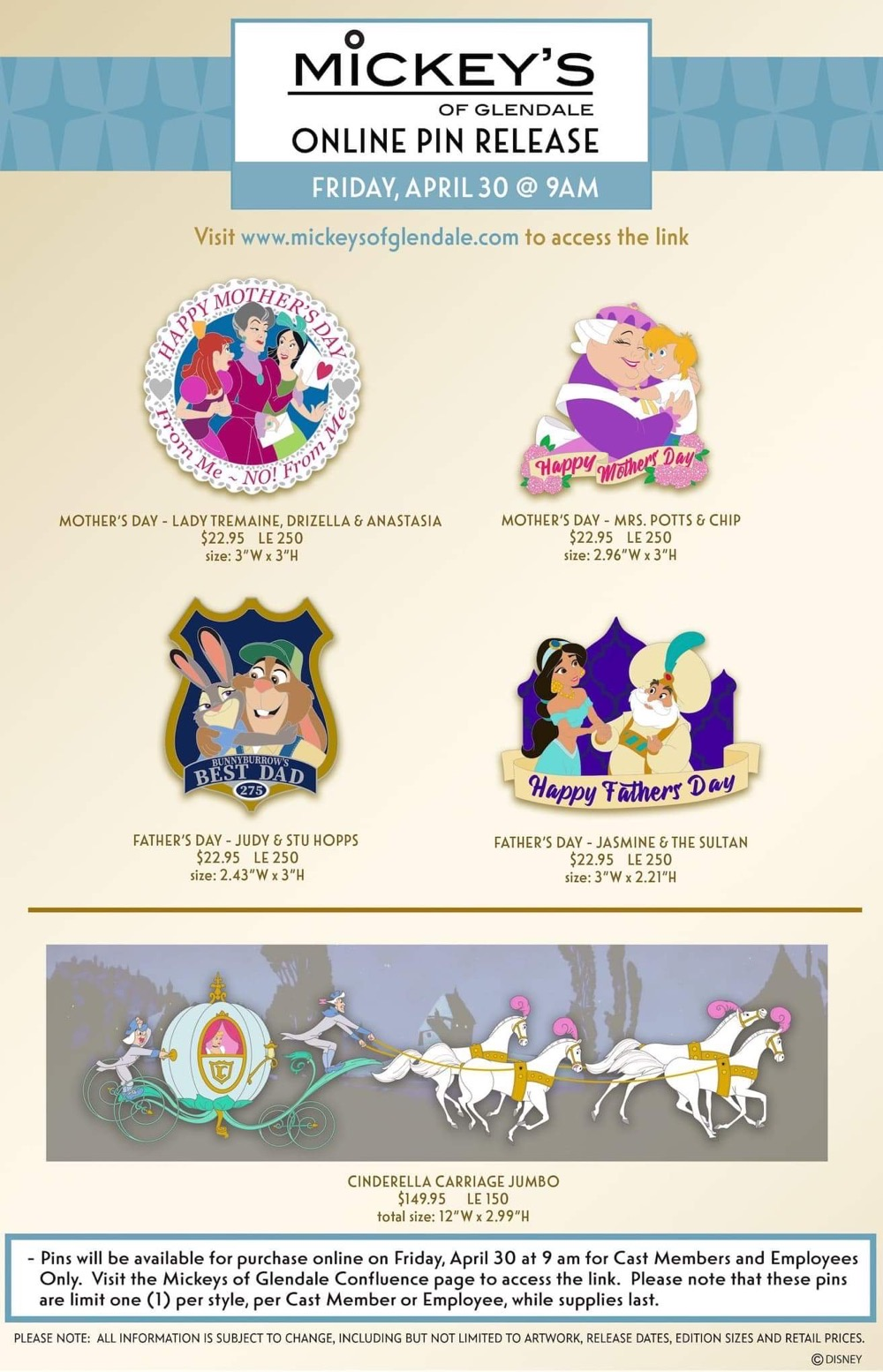 Mother's Day & Father's Day 2021 WDI Pin Release