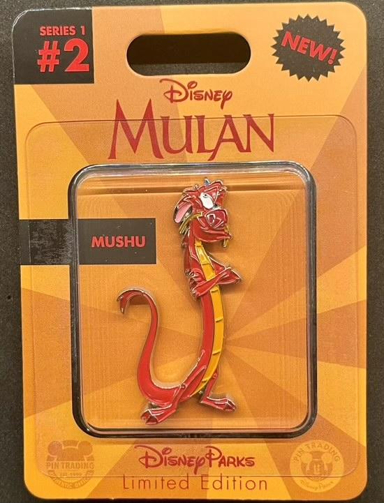 Mushu Toy Action Figure Disney Pin