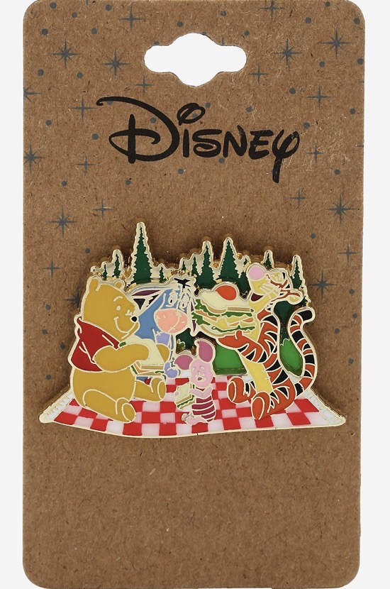 Pooh & Friends Picnic Recycled Metal BoxLunch Disney Pin