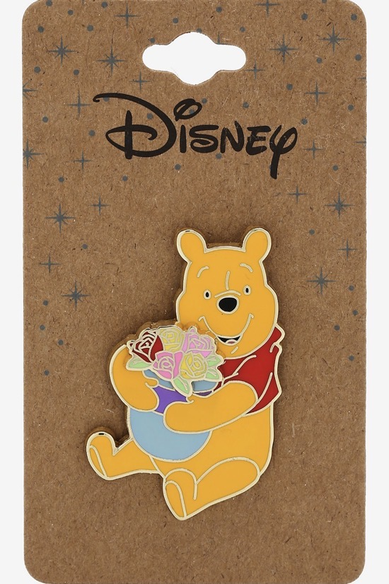 Pooh with Flowers Recycled Metal BoxLunch Disney Pin