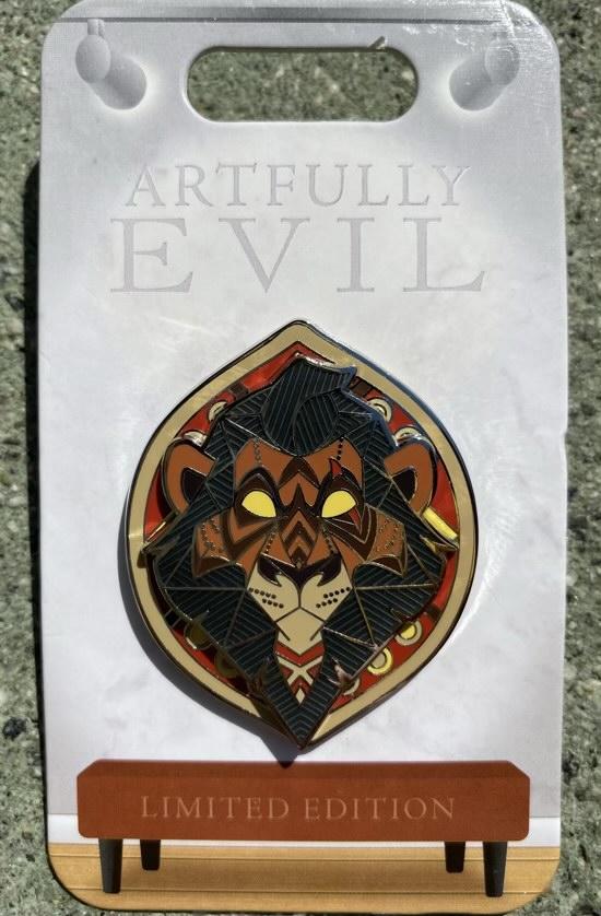 Scar Artfully Evil Disney Pin