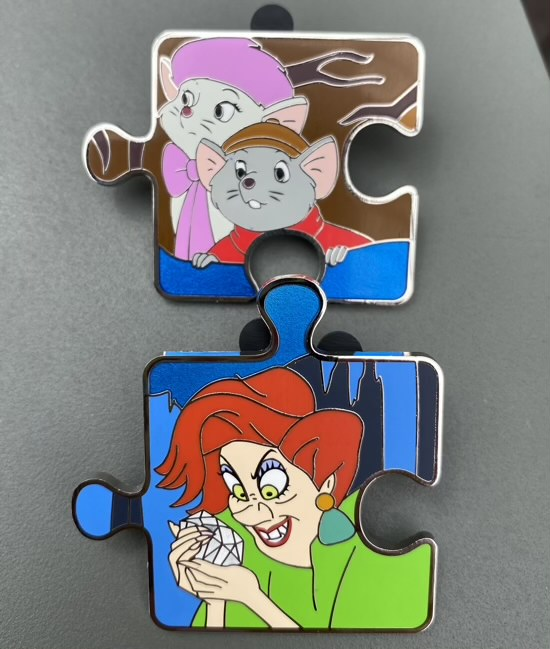 The Rescuers Character Connection Chaser Pins