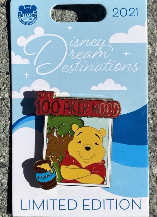 Winnie the Pooh Disney Dream Destinations Pin
