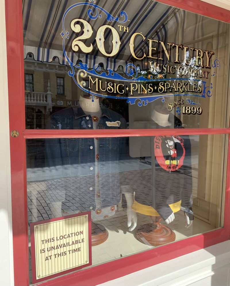20th Century Music Company Pin Store Closed