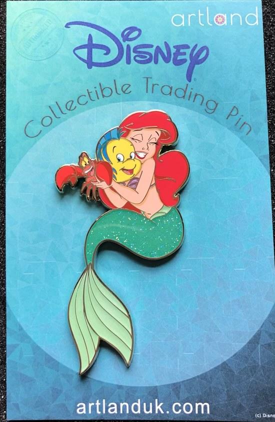 Ariel, Flounder, Sebastian LE 300 ArtLand Disney Pin