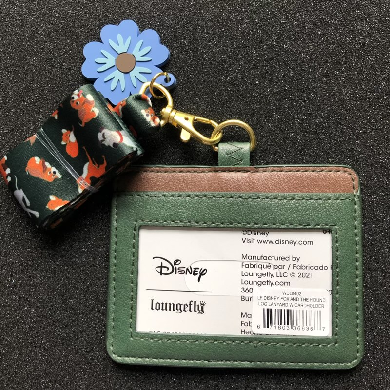 Back of Fox and the Hound Loungefly Cardholder Lanyard