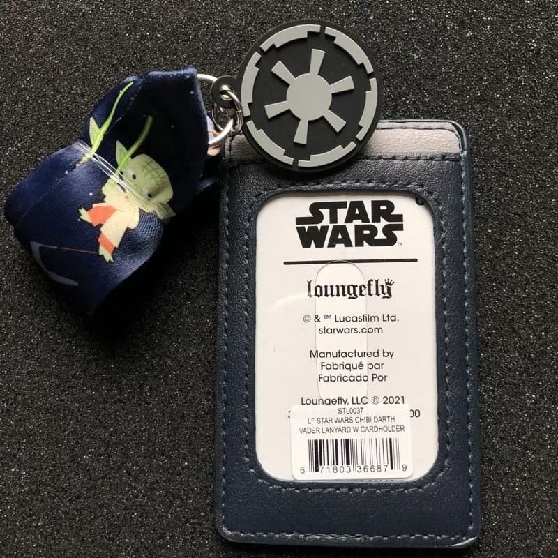 Back of Star Wars Loungefly Cardholder Lanyard