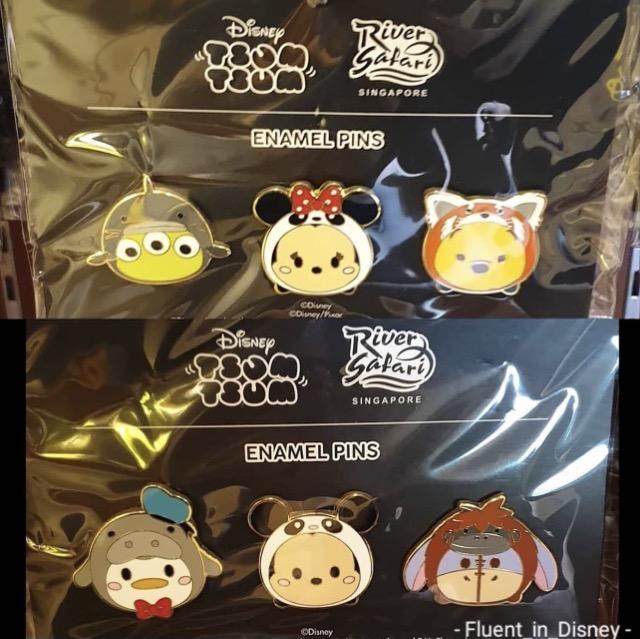Disney Tsum Tsum Pin Sets at River Safari Singapore