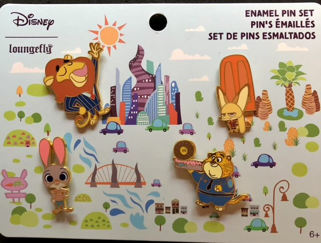 Disney Zootopia Pin Set by Loungefly