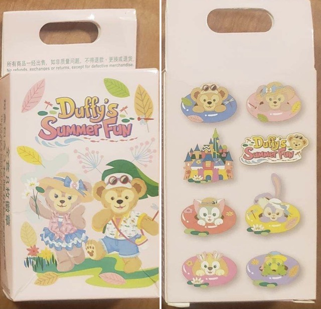 Duffy's Summer Fun 2021 Disney Pin Set