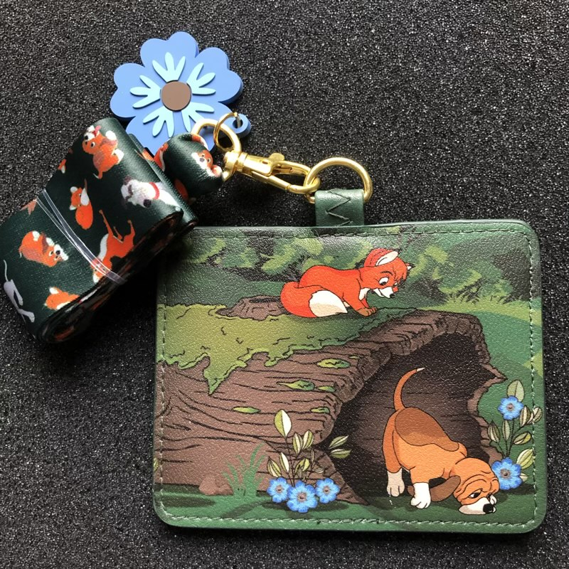 Fox and the Hound Loungefly Cardholder Lanyard