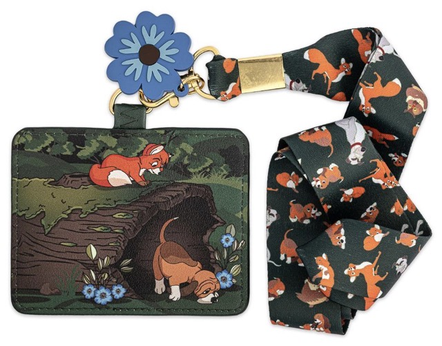 Loungefly Fox and the Hound Cardholder Lanyard