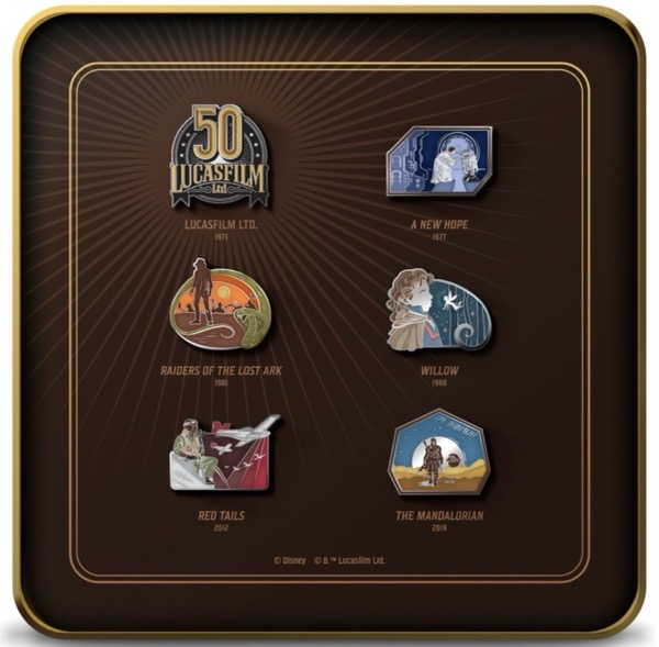 Lucasfilm 50th Anniversary D23 Exclusive Pin Set Tin