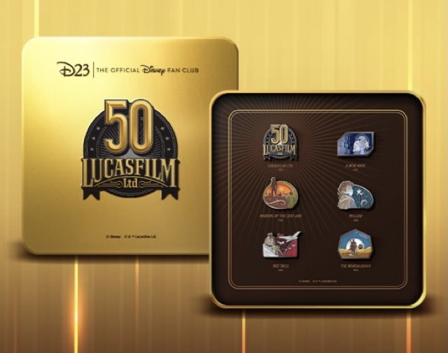 Lucasfilm 50th Anniversary D23 Exclusive Pin Set